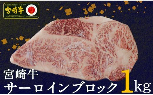 宮崎牛サーロインブロック1kg