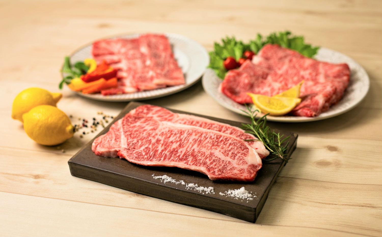 【鹿児島県産】A4等級黒毛和牛ロース3種(サーロイン・スライス・焼肉)