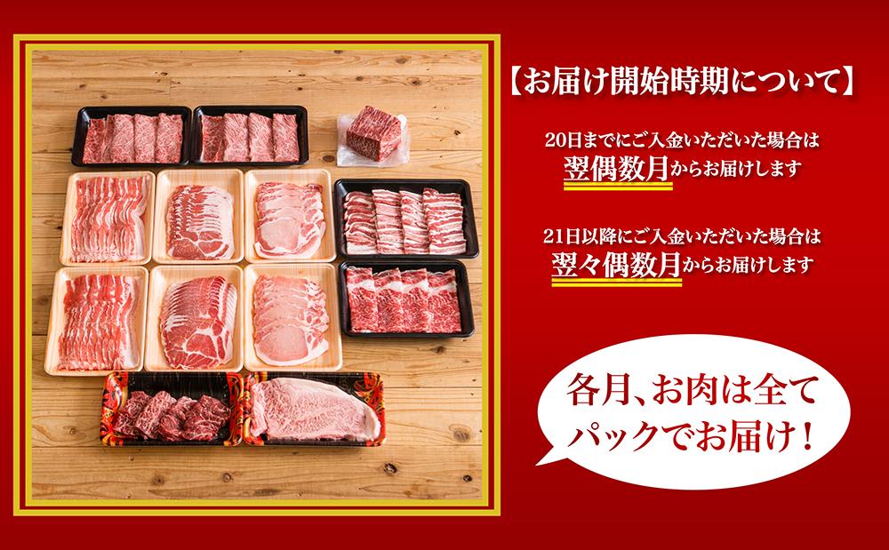 情熱牧場 鹿児島県産お肉の定期便 トライアルコース(全6回)