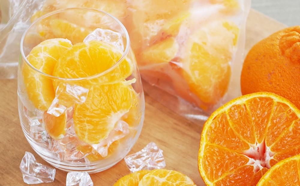【南さつま市産】簡単便利! 冷凍キングオレンジ(不知火)1kg(500g×2)