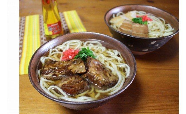 ソーキそばゆで麺5食セット 濃縮スープ